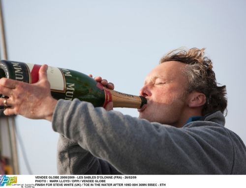 Champagne for Steve White – Vendée Globe