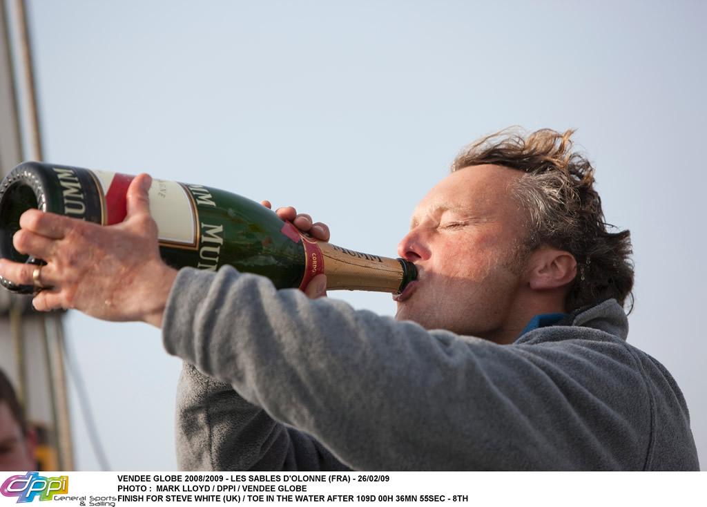 Champagne for Steve White